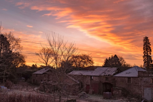 the steading at dawn, November 2019